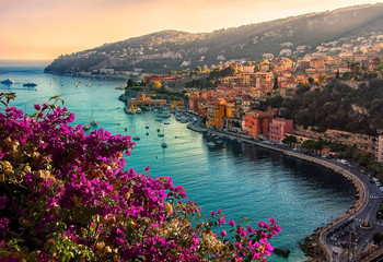 Aluminium Prints Cappuccino Villefranche Sur Mer, small village between Nice and Monaco