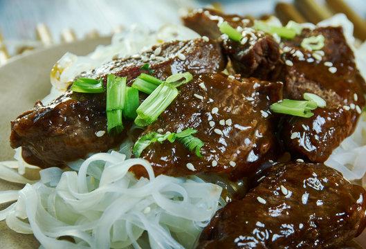Honey Sriracha Mongolian Beef
