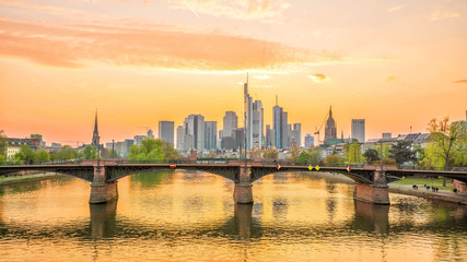 Fototapete - View of Frankfurt city skyline in Germany