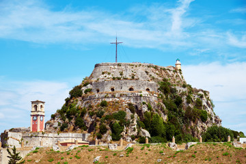 The Old Fortress of Corfu is a Venetian fortress in the city of Corfu Fototapete