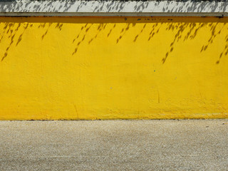 Fototapeten Retro aged street wall with shadow of leaf