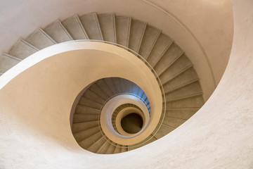 Photo sur Aluminium Spirale typical modern stone staircase