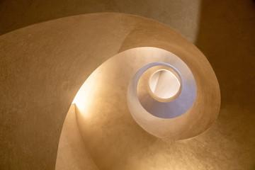 Foto auf AluDibond Spirale Modern spiral staircase