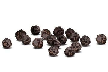 Fototapeta Black pepper close up realistic vector illustration obraz