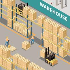 Warehouse Isometric Illustration