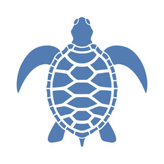 Icon sea turtle. Isolated symbol on white background. Vector illustration