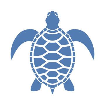 Icon sea turtle. Isolated symbol on white background. Vector illustration