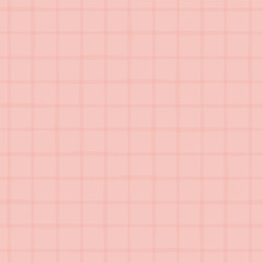 Subtle pink duotone grid made with hand drawn watercolor stripes. Seamless vector pattern on pink background. Great for wellness, beauty, spa products, home decor, stationery, packaging, giftwrap.