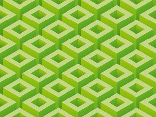 Isometric green abstract background