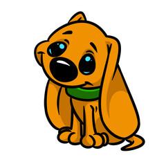 Little dog animal character cartoon illustration isolated image