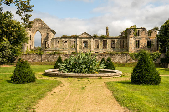 Remains of the Abbaye Notre-Dame du Voeu or Abbey of the Vow in Cherbourg. Basse Normandie, France