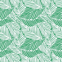 Abstract green jungle print. Exotic plant. Tropical pattern, palm
