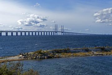 Öresund Brücke. Blick von Malmö, Schweden.