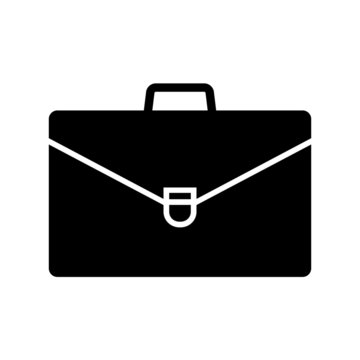 Briefcase icon. Leather business bag or portfolio for documents. Vector Illustration