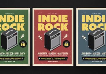 Indie Rock Music Flyer Layout