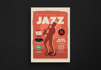 Jazz Music Flyer Layout