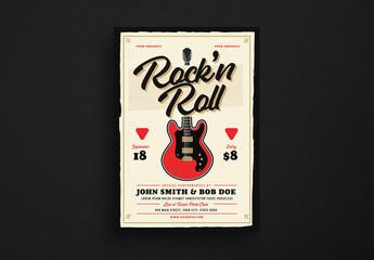Rock 'n Roll Music Flyer Layout