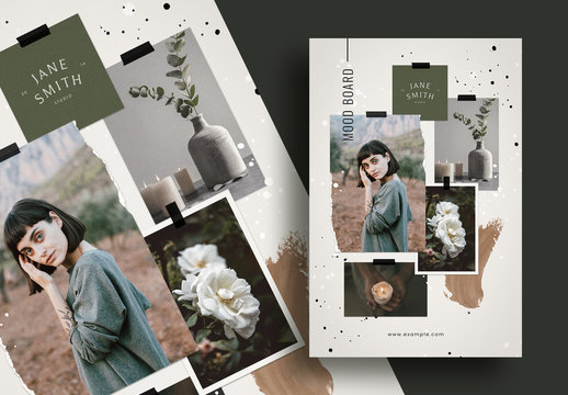 Natural Crafty Moodboard Mockup