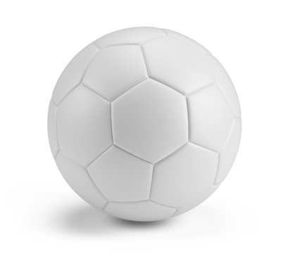 White blank Soccer Ball isolated on white background. 3d rendering