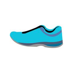 Sports blue shoe isolated on white background