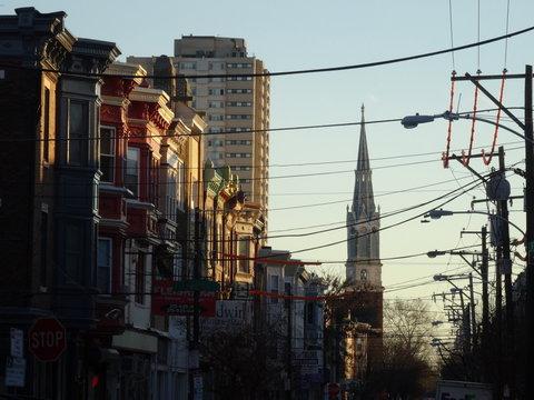 South Philadelphia street view blue collar neighborhood