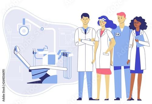Medicine dental concept  Team of dentists in dentistry