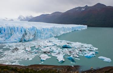 General view of the Perito Moreno Glacier. South America. Argentina. Landscape.