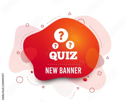 Fluid badge  Quiz with question marks sign icon  Questions