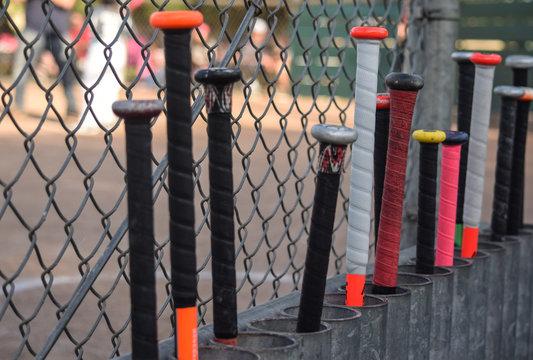 Baseball Bats Lineup
