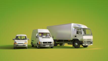 Road transportation fleet green