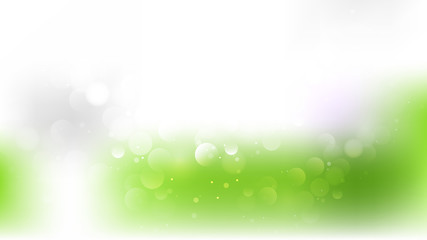 Green and White Bokeh Background Vector Graphic