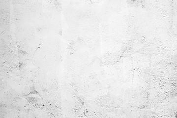 Fotobehang - Blank grunge white cement wall texture background, interior design background, banner