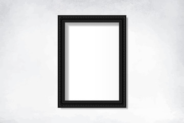 Wall Mural - Black blank frame on the wall