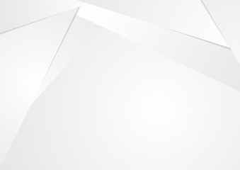 Abstract grey technology polygonal corporate background