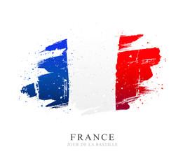 Obraz Flag of France. Independence Day. Bastille Day. - fototapety do salonu
