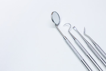 dental equipment  on white background closeup image.