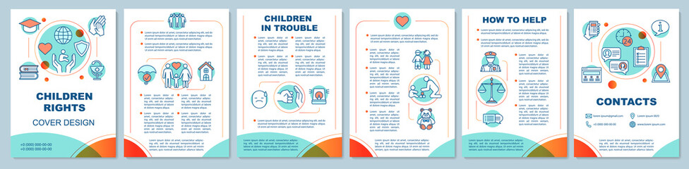 Children rights brochure template layout