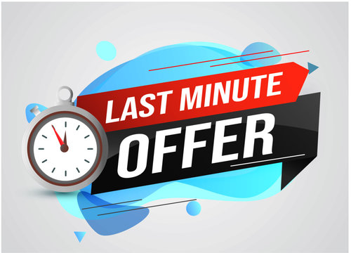 Last minute offer watch countdown Banner design template for marketing. Last chance promotion or retail. background banner poster modern graphic design  for store shop, online store, website, landing