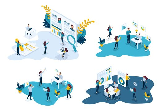 Isometric Business Concepts Recruiting