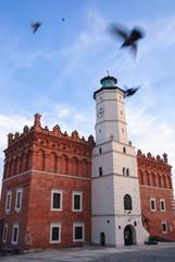 Town Hall building in Sandomierz town located in Swietokrzyskie Voivodeship of Poland