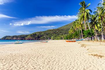 Nagtabon Beach on Palawan Island