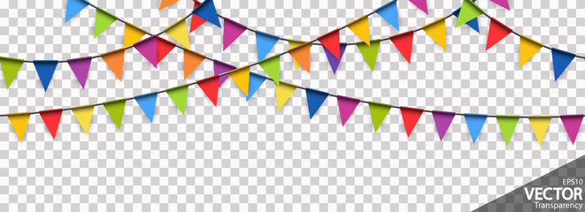 seamless colored garlands party background