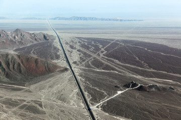 Highway and the Nazca Plateau