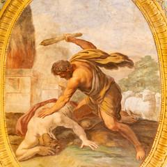 Wall Mural - ACIREALE, ITALY - APRIL 11, 2018: The fresco Killing of Abel in Duomo - cattedrale di Maria Santissima Annunziata by Pietro Paolo Vasta (1736 - 1739).
