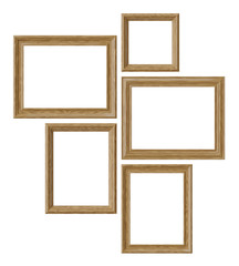 Wood picture or photo frames isolated on white background