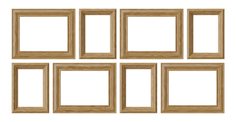 Wooden frames for picture or photo isolated on white background