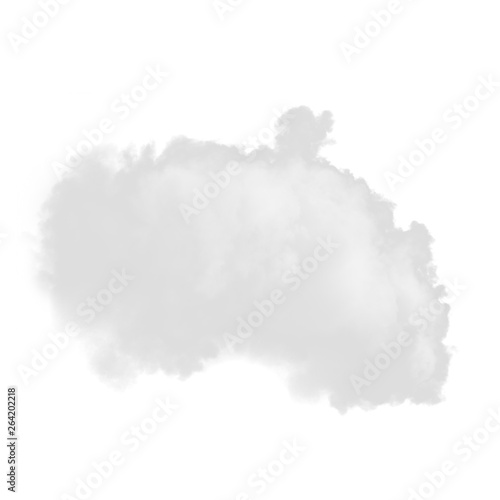 Light smoke isolated on a white background for making