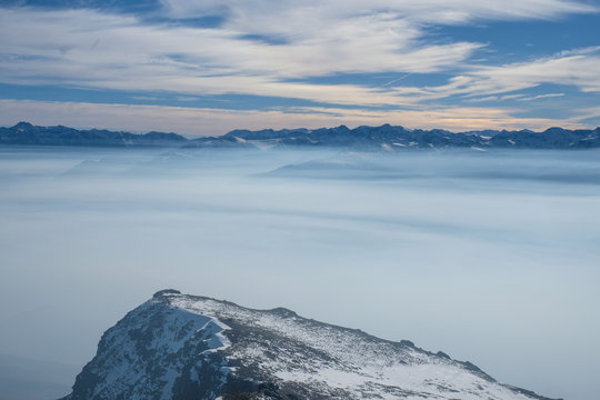the top of the mountains in Ayer, Valais, Ayer, Suisse