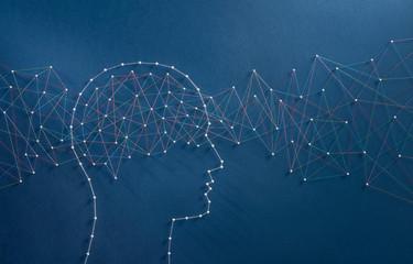 Brain waves concept