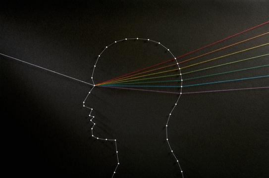 Mind prism. Input output concept.